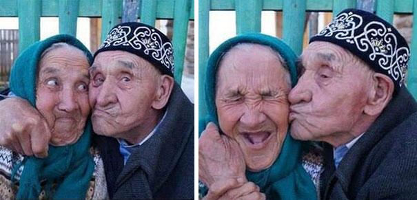 16 Elderly Couples Prove You're Never Too Old To Have Fun - Old Russian Couple From Khalilov Village, Russia, Have Been Happily Married For 65 Years