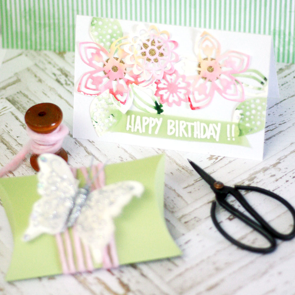 Card Making Ideas Sizzix Part - 30: A Cute Card With A Matching Box For A Small Gift Are Always A Fun Idea.  Yesterday, I Had The Chance To Give Away This Summer Set.