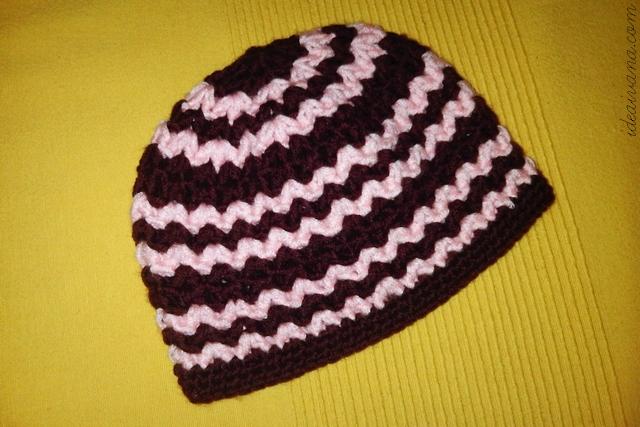 zig zag beanie crochet pattern free