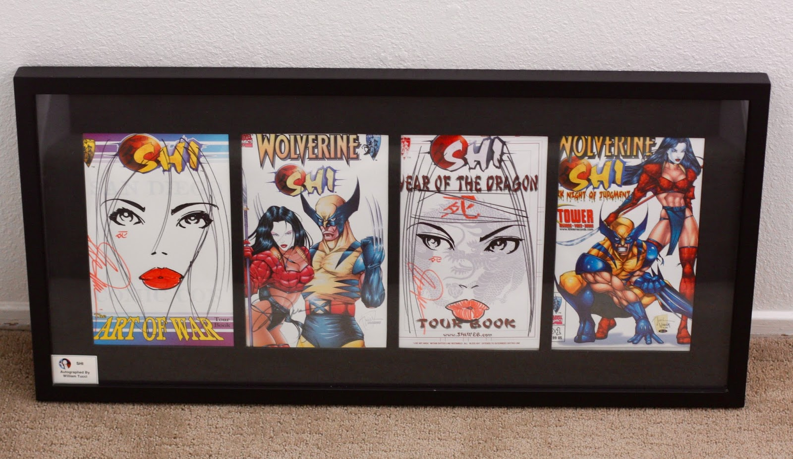 Marvelous COMIC BOOKS 4 PANEL FRAME DISPLAY WALL ART DIY