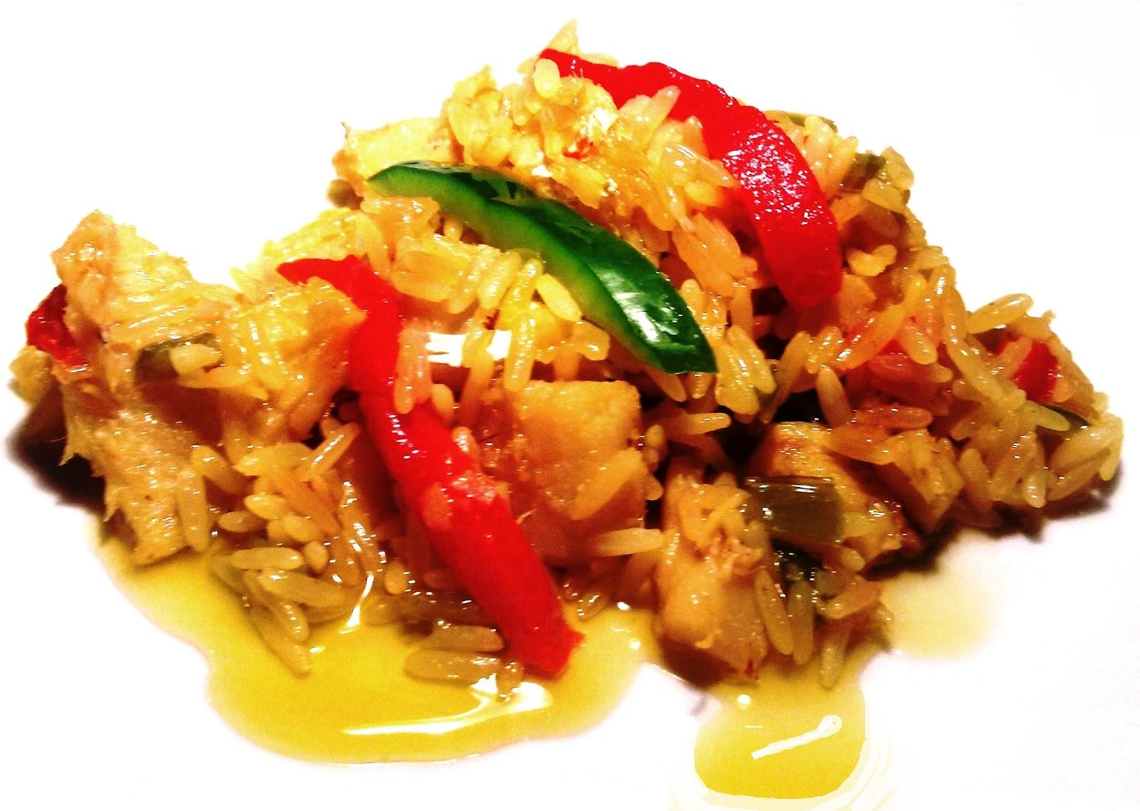 Nuestras recetas familiares arroz con bacalao - Arroz con bacalao desmigado ...