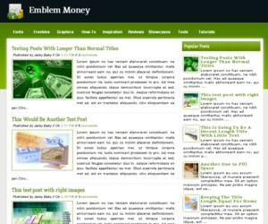 Emblem Money blogger template