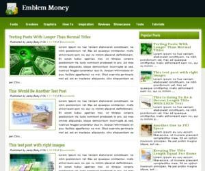 Emblem Money blogger template