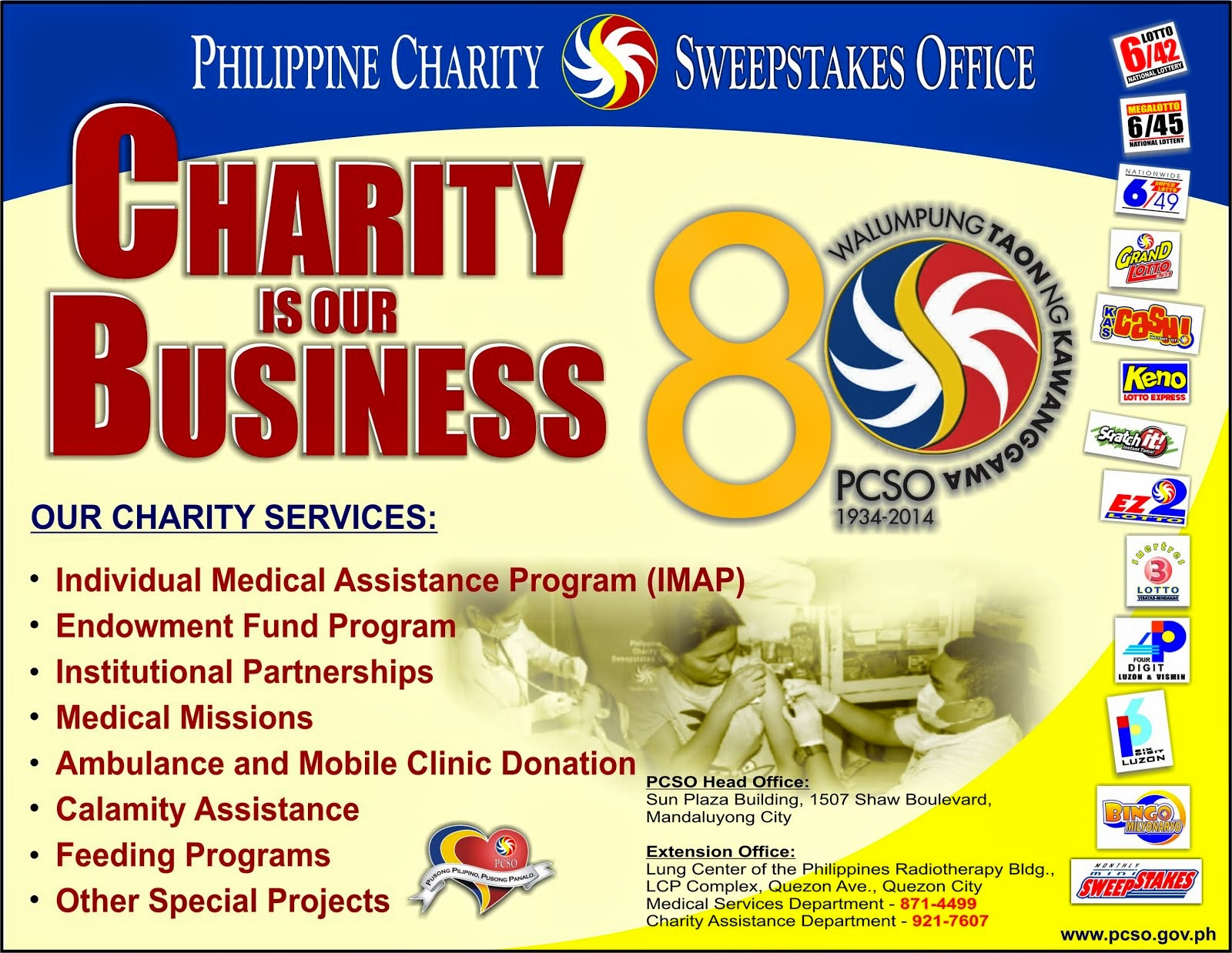 Charity is Our Business