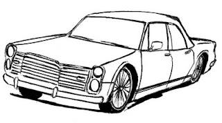 Desenhos Preto e Branco os Carros antigos  Colorir