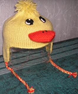Free Knitting Pattern Duck Hat : Knitting Galore: Baby Duckling Earflap Hat
