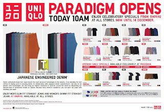 UNIQLO Opening Specials Sale 2012