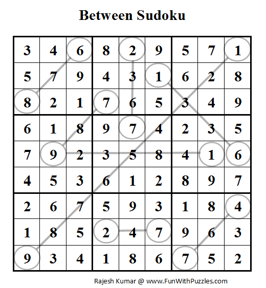 Between Sudoku (Daily Sudoku League #62) Solution