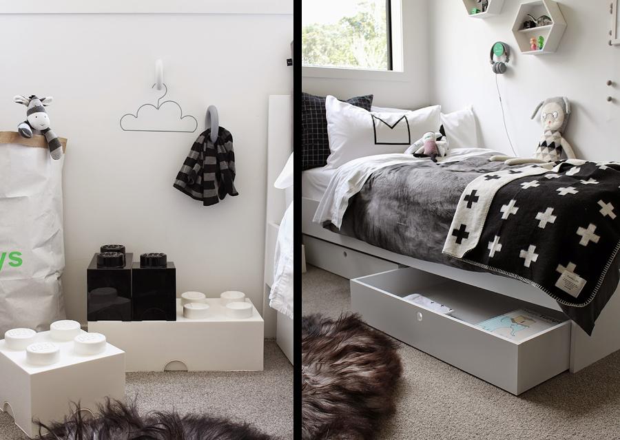 Vintage design medina flor z decoraci n n rdica blanca - Dormitorio en blanco y negro ...