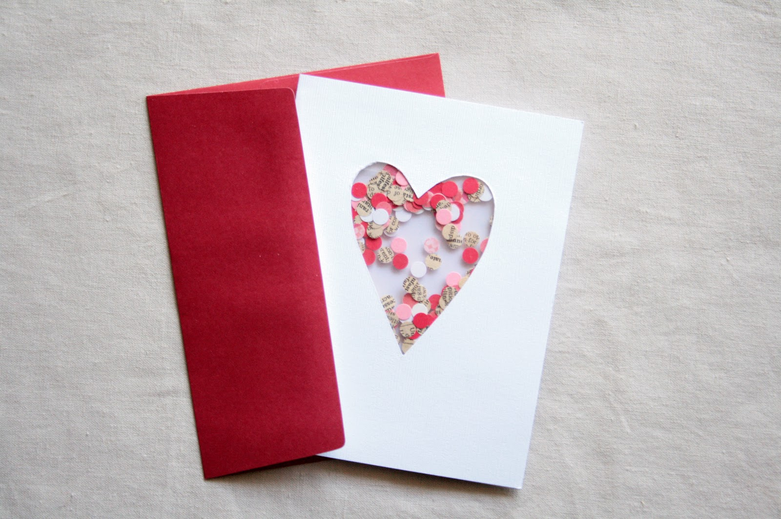 The Creative Place DIY Confetti Valentine Card – Hand Made Valentine Cards