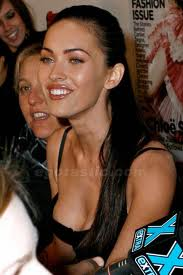 Megan Fox nipple Slip on press meet