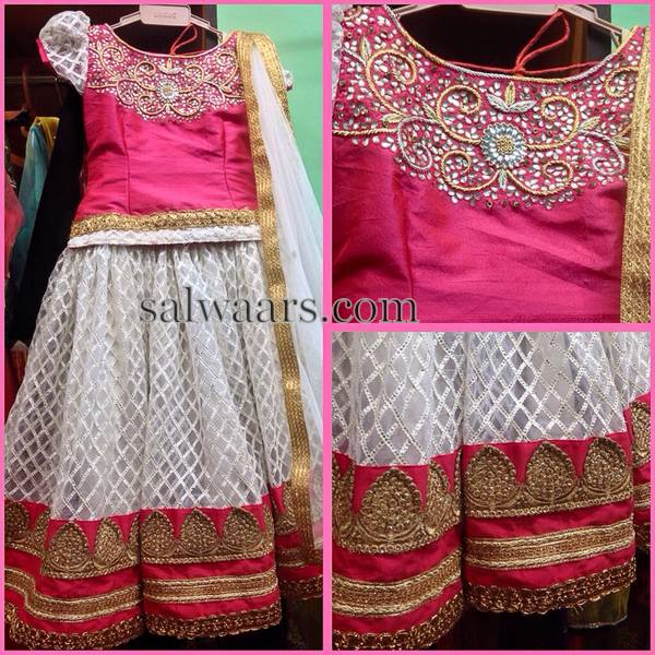Off White Printed Lehenga