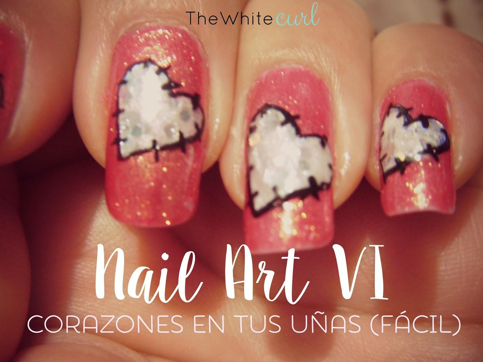 Nail Art VI. Uñas con corazones (fácil) - The White Curl