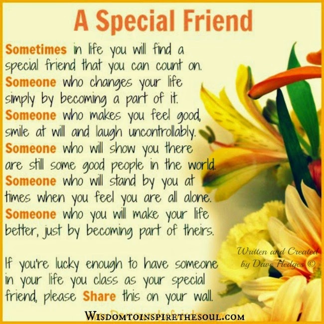 Some Special Quotes About Friendship Custom Daveswordsofwisdom Special Friend We Can Count On.