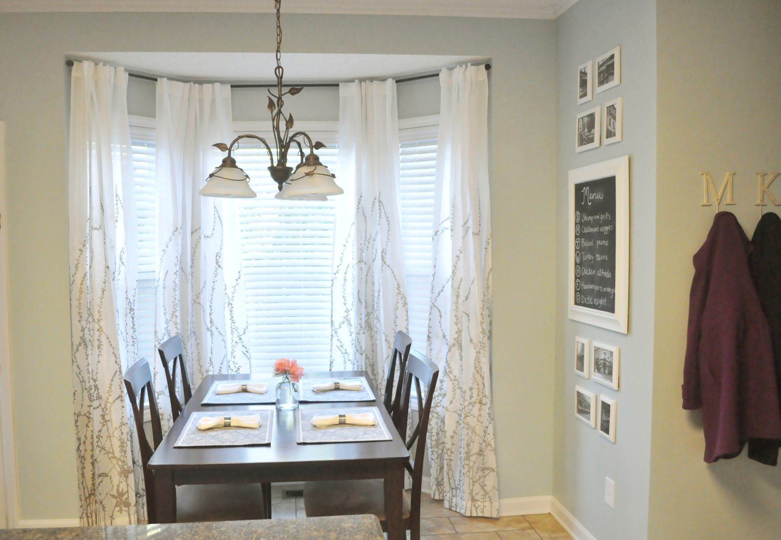 Bay Window Curtain Rod Lowes Kitchen nook update