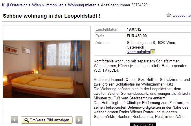 sch ne wohnung in der leopoldstadt schmelzgasse 8 1020 wien. Black Bedroom Furniture Sets. Home Design Ideas