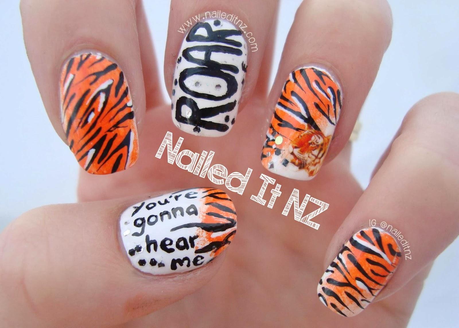 Katy Perry Nail Art Roar
