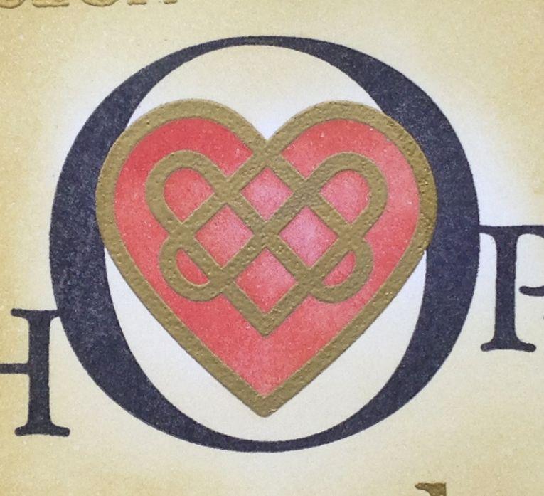 Lynnes Crafty Little Blog Faith Hope And Love Celtic Knot Card