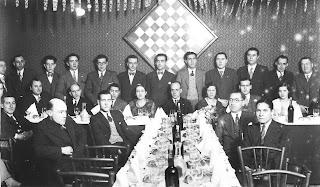 Cena de homenaje a Ricard Riu en 1932