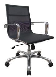 Contemporary Black Mesh Office Chair