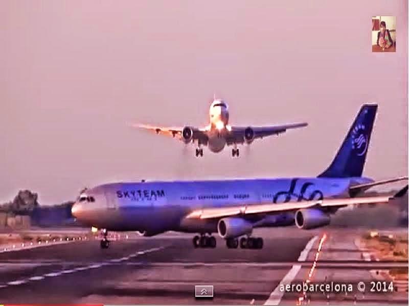 Rakaman Video Kapal Terbang Hampir Bertembung