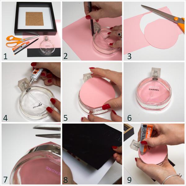 Reutilizar los frascos de perfume