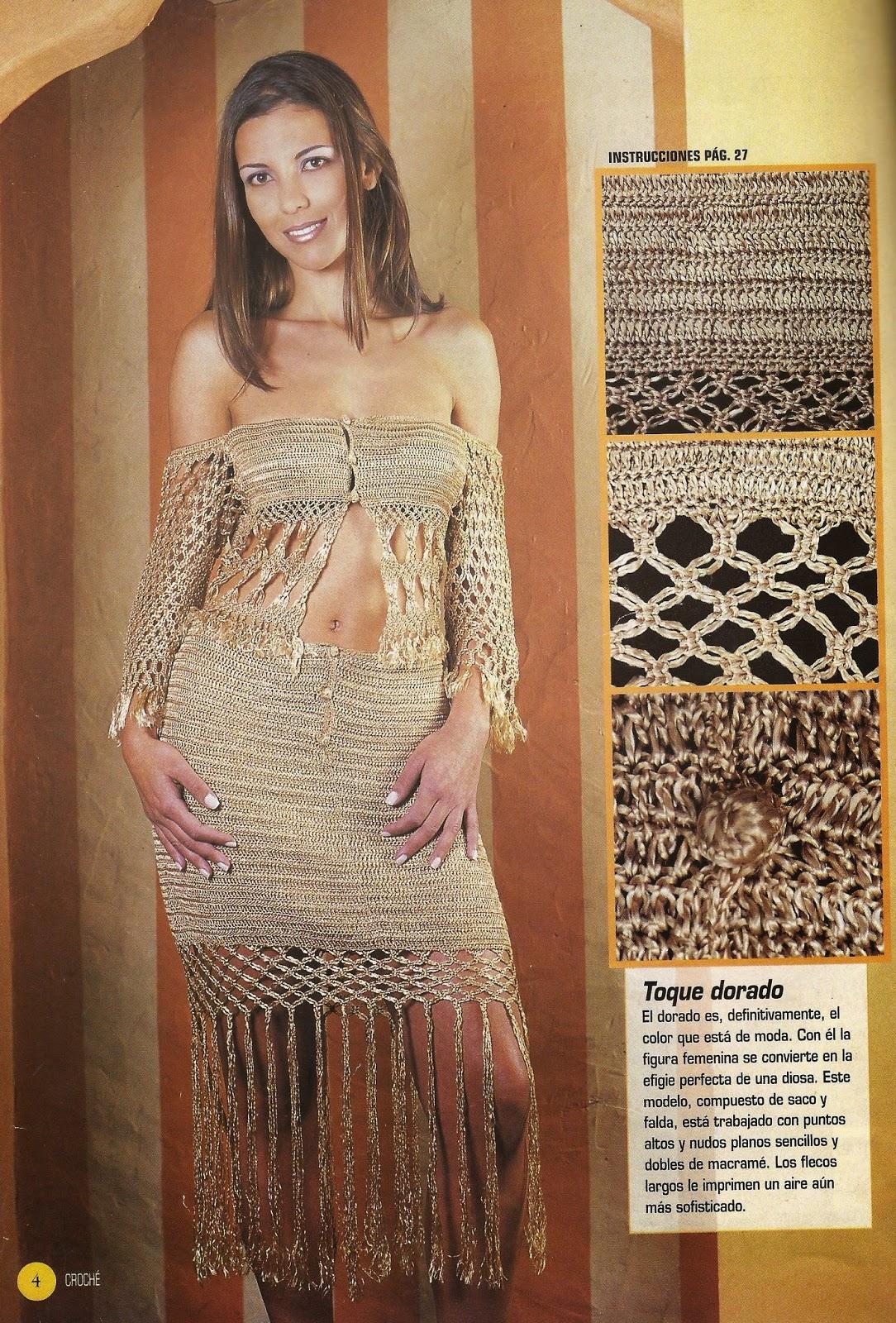 Conjunto Dorado a Crochet
