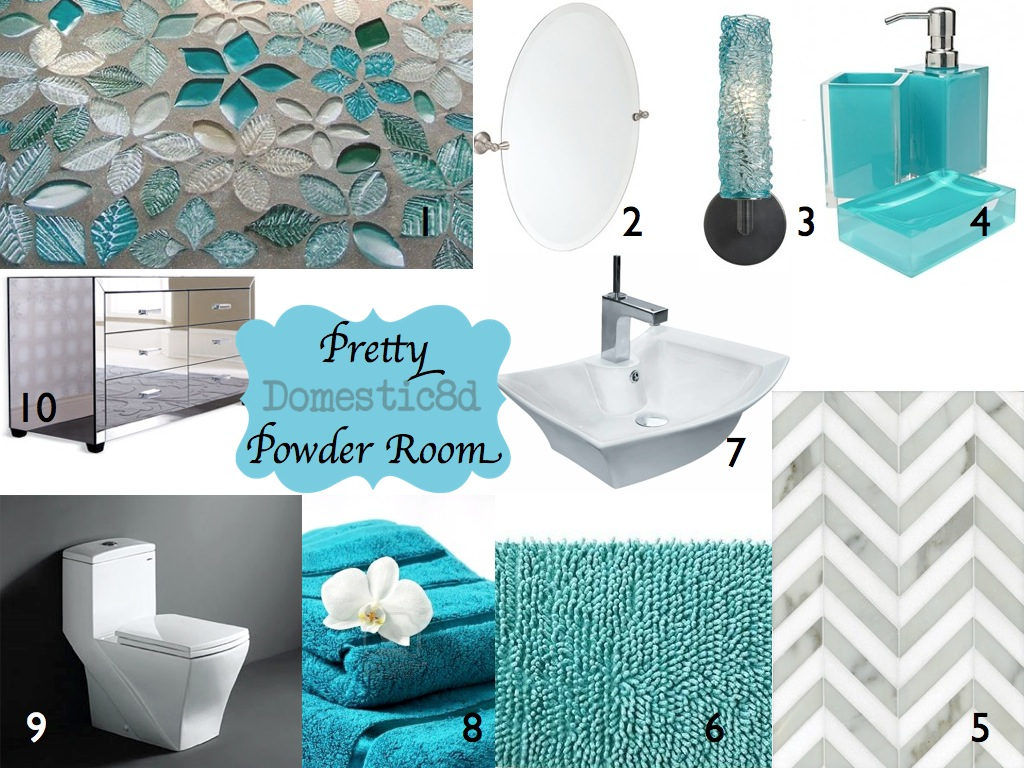 Domestic8d imbm pretty powder room Pretty powder room ideas