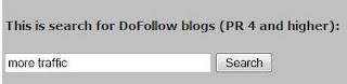 Here enter your search words for finding DoFollow blogs with high PR