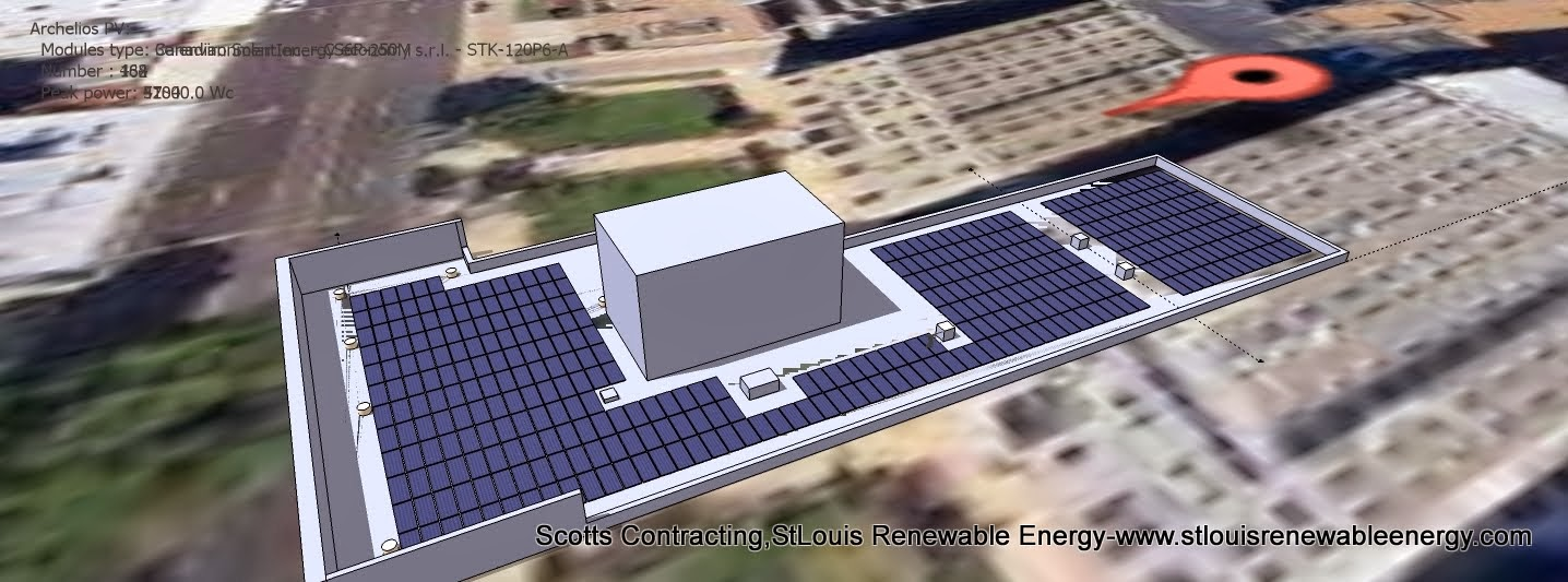 Insert SketchUp CAD Design into Google Earth for Clean Energy Production Report
