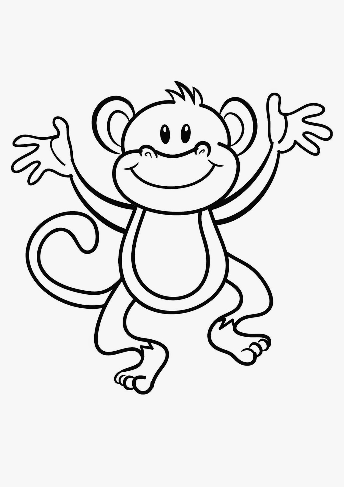 Dibujos para colorear dibujos de monos - Dibujos de pared ...