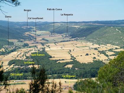 La Vall de Coma des del Serrat de Cal Porquer