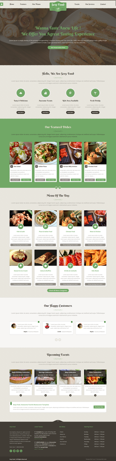 Food & Restaurant WordPress Theme