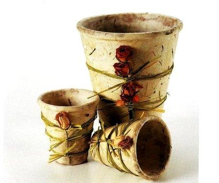 Nei colori la vita impreziosisci i tuoi vasi di coccio - Decorare vasi terracotta ...