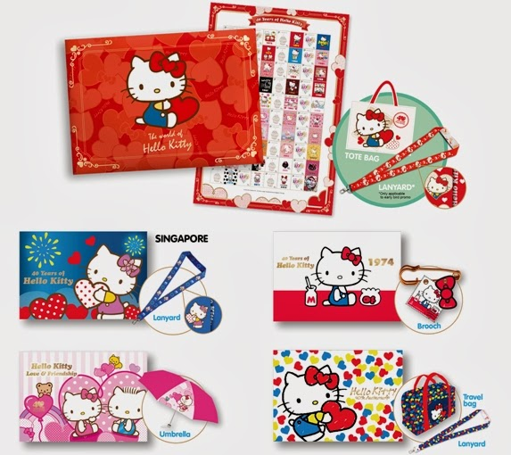 singpost hello kitty 40th anniversary collection set review