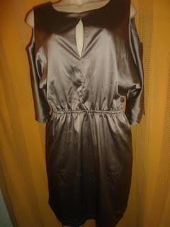 vestido  G  100% poliéster com elastano cor bronze lindissimo