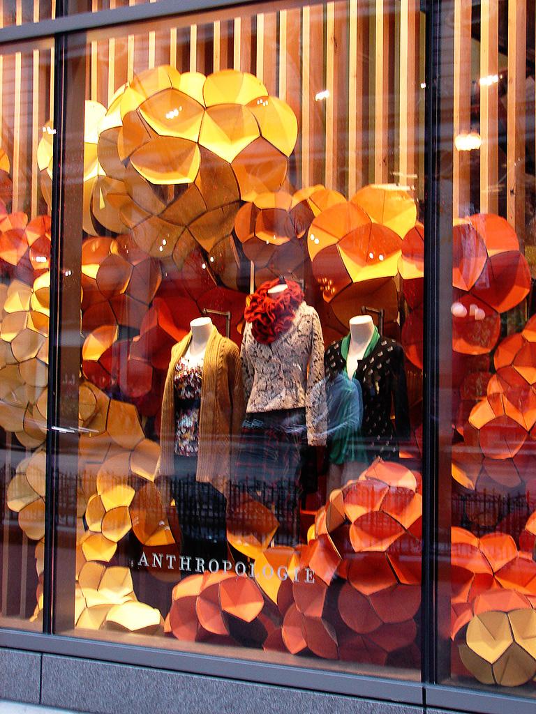 Beautiful Window Displays Anthropologie Kaleidoscopic