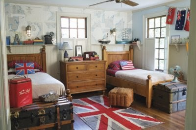 Reshaping british house and color setting home decorating for British themed bedroom ideas