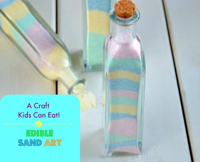 Candy Sand Art - A Craft Kids Can Eat
