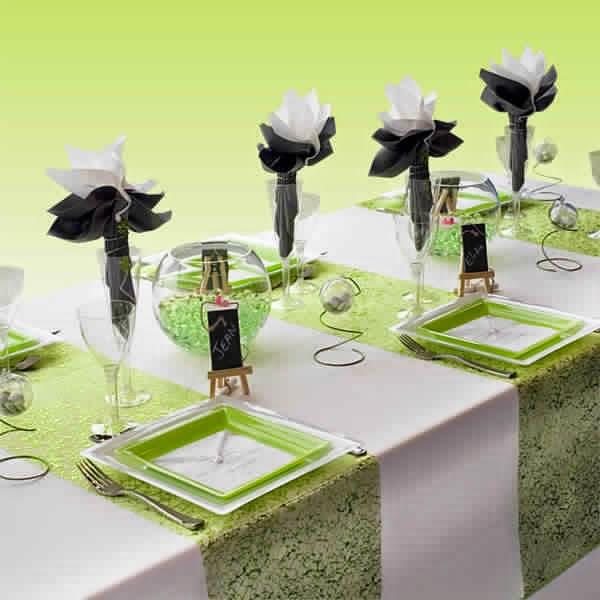 Déco mariage vert et blanc