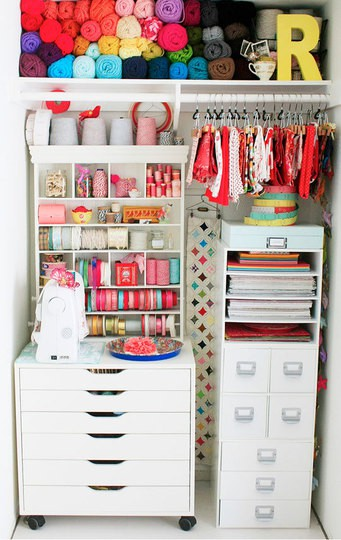 Little Gray Fox Craft Room Storage Ideas