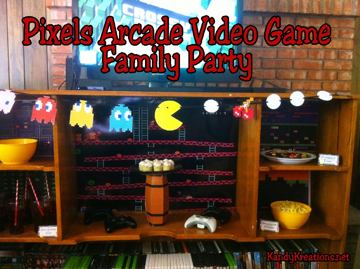 Celebrate fun family time with this old fashioned arcade based video game party.  All the printables, desserts, decorations, and ideas are included to help you throw your own fun family party based on the old fashioned video games.