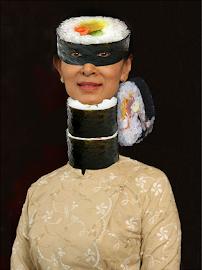Aung San Sushi, Icône pro-démocratie