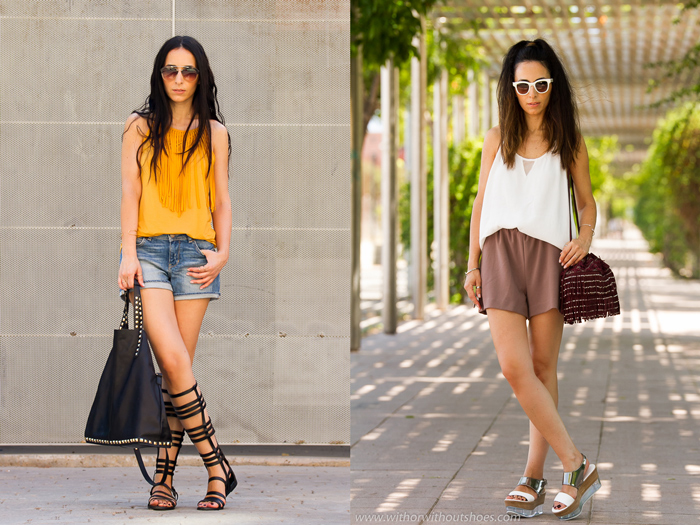 Resumen de los looks de Julio de la blogger de Valencia withorwithoutshoes