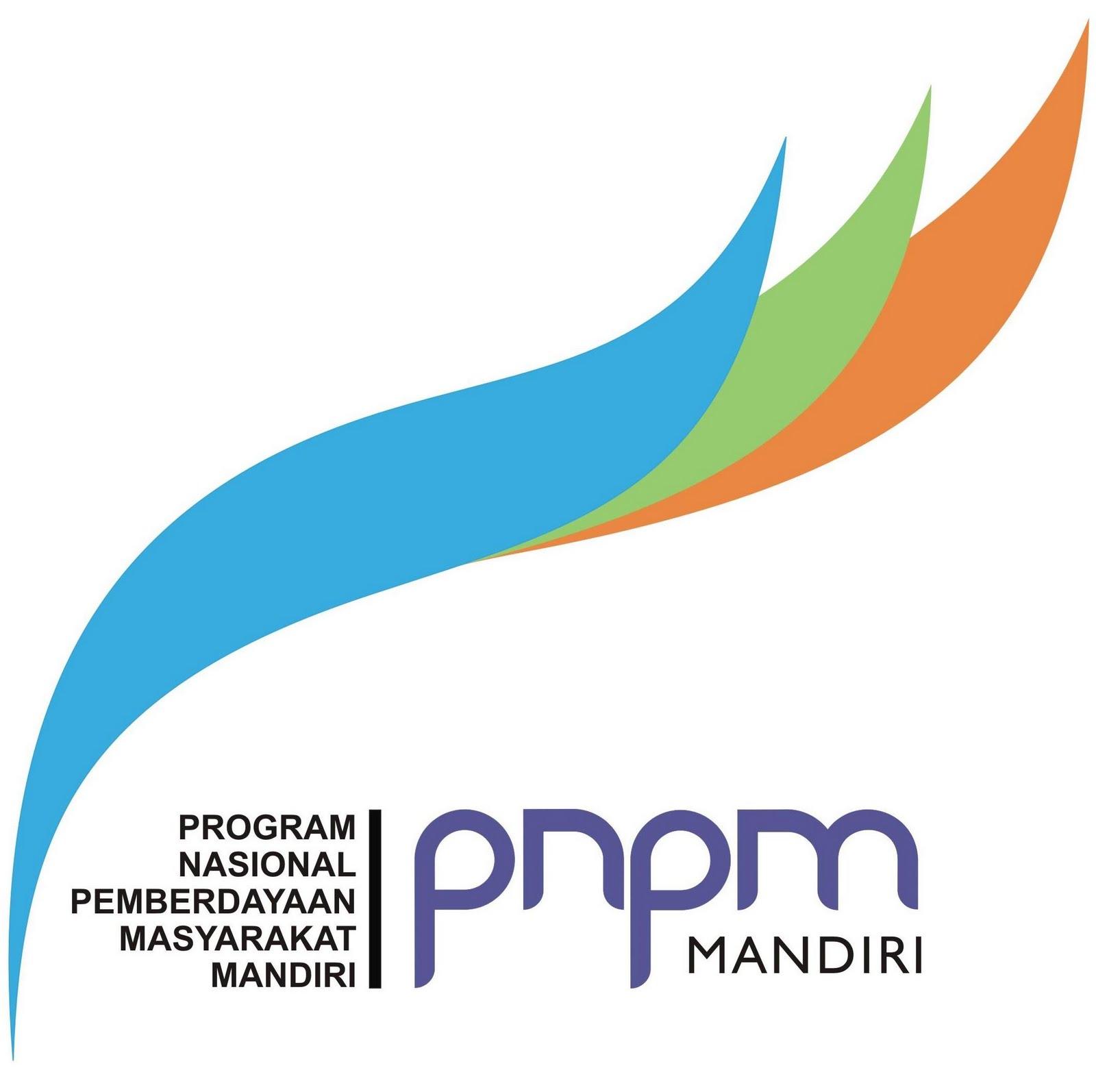 Logo PNPM Mandiri menggambarkan simbol bunga yang sedang mekar yang ...