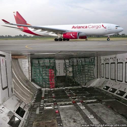 bodega avión para transporte de mercancías milan amsterdam bogota
