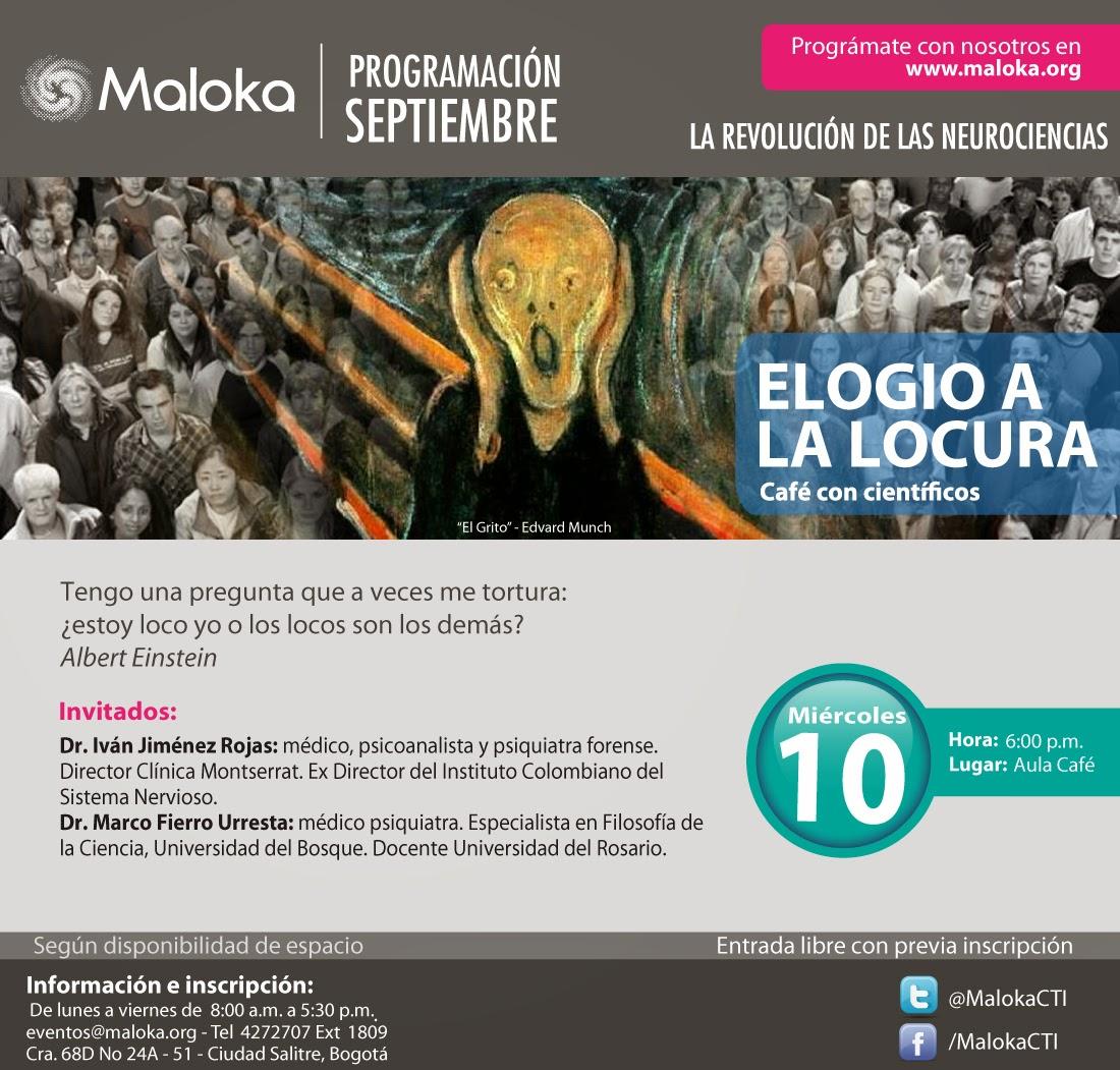 Elogio a la locura en Maloka - Septiembre 10 2014 - Bogotá