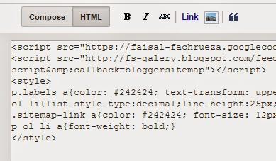 daftar isi blog otomatis