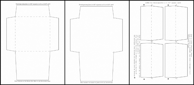 Mel Stampz 4 38 Square Envelope Templates With Liners