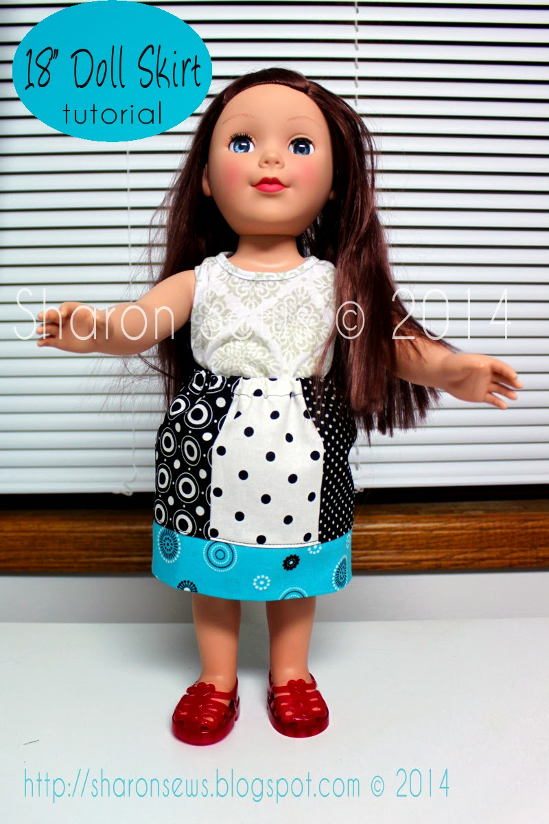18 Inch Doll Skirt Free Tutorial Sharons Sews